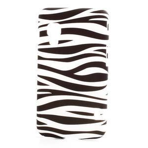 Plastové puzdro pre LG Optimus L5 Dual E455- zebra - 1