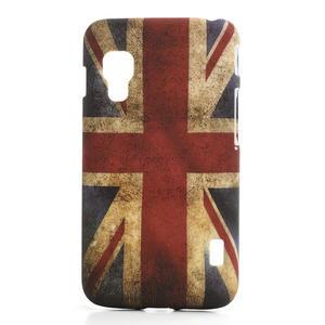 Plastové puzdro pre LG Optimus L5 Dual E455-UK vlajka - 1