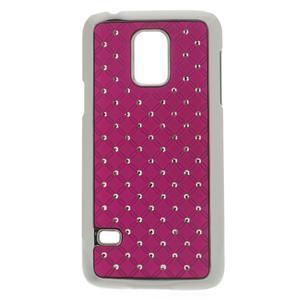 Drahokamové pouzdro na Samsung Galaxy S5 mini G-800- růžové - 1