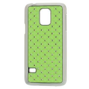 Drahokamové puzdro pre Samsung Galaxy S5 mini G-800- zelené - 1