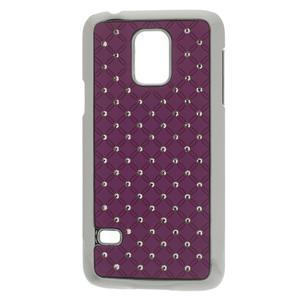 Drahokamové puzdro pre Samsung Galaxy S5 mini G-800- fialové - 1