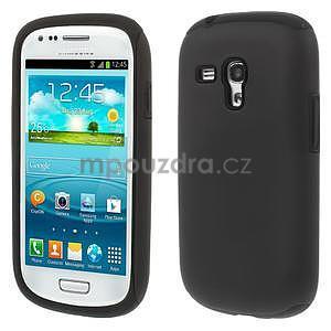 Čierné hybridný puzdro pre Samsung Galaxy S3 mini / i8190 - 1