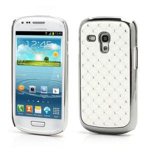 Drahokamové puzdro pre Samsung Galaxy S3 mini i8190- biele - 1