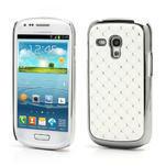 Drahokamové puzdro pre Samsung Galaxy S3 mini i8190- biele - 1/4