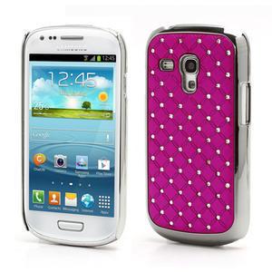 Drahokamové puzdro pre Samsung Galaxy S3 mini i8190- ružové - 1