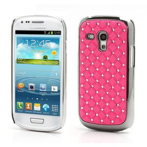 Drahokamové puzdro pre Samsung Galaxy S3 mini i8190- svetlo-ružové - 1
