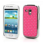 Drahokamové puzdro pre Samsung Galaxy S3 mini i8190- svetlo-ružové - 1/4