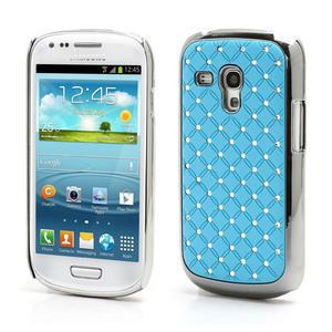 Drahokamové puzdro pre Samsung Galaxy S3 mini i8190- svetlo-modré - 1