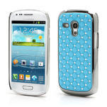 Drahokamové puzdro pre Samsung Galaxy S3 mini i8190- svetlo-modré - 1/3