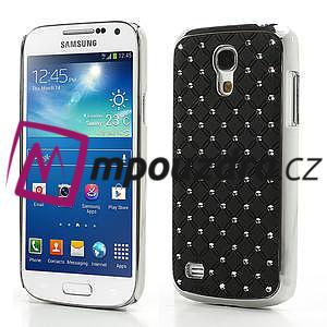 Drahokamové pouzdro pro Samsung Galaxy S4 mini i9190- černé - 1