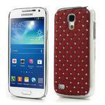 Drahokamové pouzdro pro Samsung Galaxy S4 mini i9190- červené - 1/5