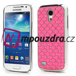 Drahokamové pouzdro pro Samsung Galaxy S4 mini i9190- světlerůžové - 1