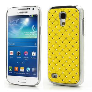 Drahokamové puzdro pro Samsung Galaxy S4 mini i9190- žlté - 1