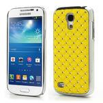 Drahokamové puzdro pro Samsung Galaxy S4 mini i9190- žlté - 1/3