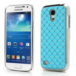 Drahokamové puzdro pro Samsung Galaxy S4 mini i9190- svetlomodré - 1