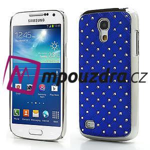 Drahokamové pouzdro pro Samsung Galaxy S4 mini i9190- modré - 1