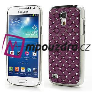 Drahokamové puzdro pro Samsung Galaxy S4 mini i9190- fialové - 1