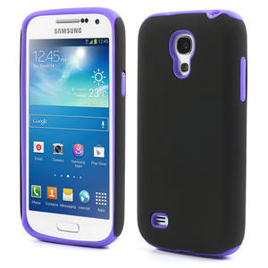Hybridné puzdro pre Samsung Galaxy S4 mini i9190- fialové - 1
