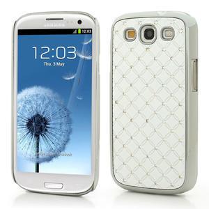 Drahokamové puzdro pre Samsung Galaxy S3 i9300 - biele - 1