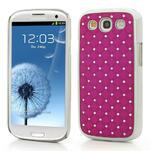 Drahokamové puzdro pre Samsung Galaxy S3 i9300 - ružové - 1/5