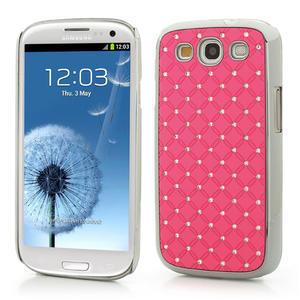 Drahokamové puzdro pre Samsung Galaxy S3 i9300- světle-růžové - 1