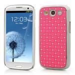 Drahokamové puzdro pre Samsung Galaxy S3 i9300- světle-růžové - 1/5