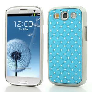 Drahokamové puzdro pre Samsung Galaxy S3 i9300 - světlě-modré - 1