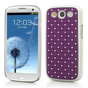Drahokamové puzdro pre Samsung Galaxy S3 i9300 - fialové - 1