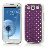 Drahokamové puzdro pre Samsung Galaxy S3 i9300 - fialové - 1/5