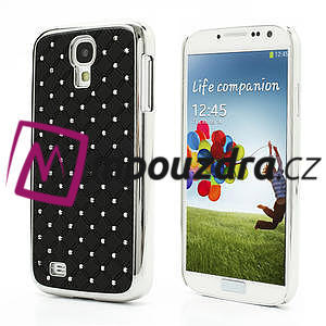 Drahokamové pouzdro pro Samsung Galaxy S4 i9500- černé - 1