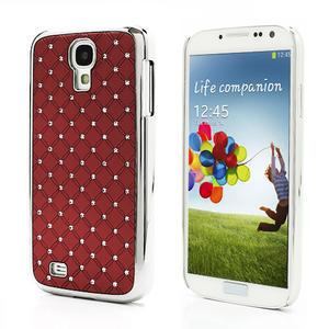 Drahokamové puzdro pro Samsung Galaxy S4 i9500- červené - 1