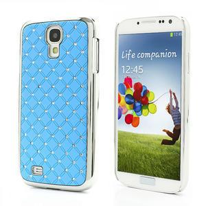 Drahokamové pouzdro pro Samsung Galaxy S4 i9500- světle-modré - 1