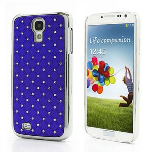 Drahokamové puzdro pro Samsung Galaxy S4 i9500- modré - 1