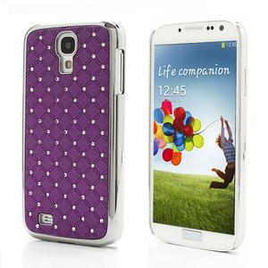 Drahokamové pouzdro pro Samsung Galaxy S4 i9500- fialové - 1
