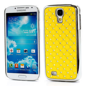 Drahokamové puzdro pro Samsung Galaxy S4 i9500- žlutá - 1
