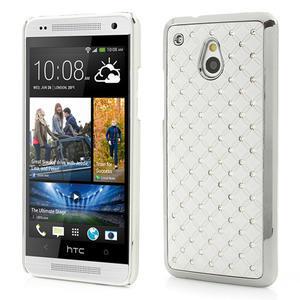 Drahokamové puzdro pre HTC one Mini M4- biele - 1