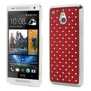 Drahokamové puzdro pre HTC one Mini M4- červené - 1