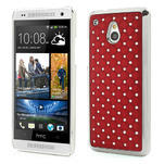 Drahokamové puzdro pre HTC one Mini M4- červené - 1/5