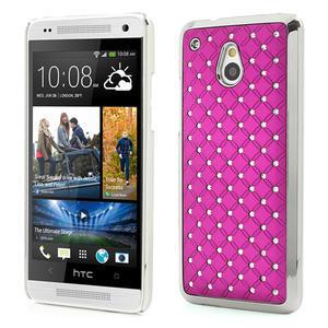 Drahokamové puzdro pre HTC one Mini M4- ružové - 1