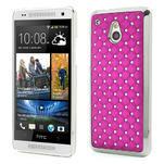 Drahokamové puzdro pre HTC one Mini M4- ružové - 1/5