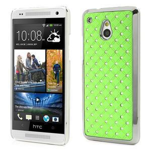 Drahokamové puzdro pre HTC one Mini M4- zelené - 1