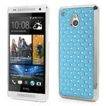 Drahokamové puzdro pre HTC one Mini M4- svetlo modré - 1/5