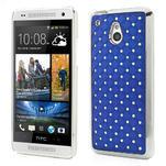 Drahokamové puzdro pre HTC one Mini M4- modré - 1/5