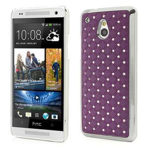 Drahokamové puzdro pre HTC one Mini M4- fialové - 1