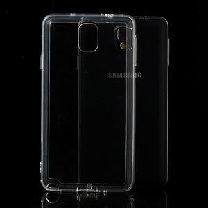 Gélové hybrid puzdro na Samsung Galaxy Note 3- transparentný - 1