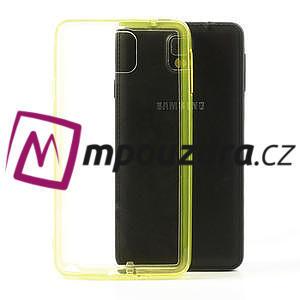 Gélové hybrid puzdro na Samsung Galaxy Note 3- žlté - 1