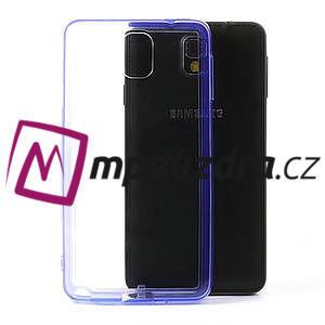 Gélové hybrid puzdro na Samsung Galaxy Note 3- fialové - 1