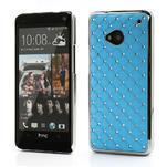 Drahokamové puzdro pre HTC one M7- svetlo modré - 1/6