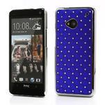Drahokamové puzdro pre HTC one M7- modré - 1/6