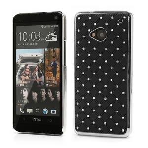 Drahokamové puzdro pre HTC one M7- čierné - 1